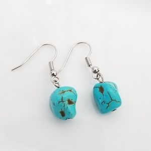 Small Faux turquoise earrings